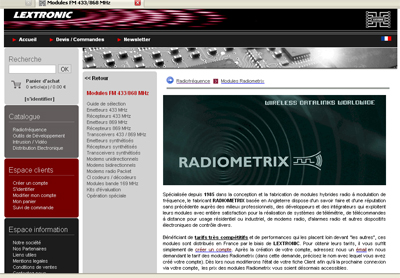 Lextronic website